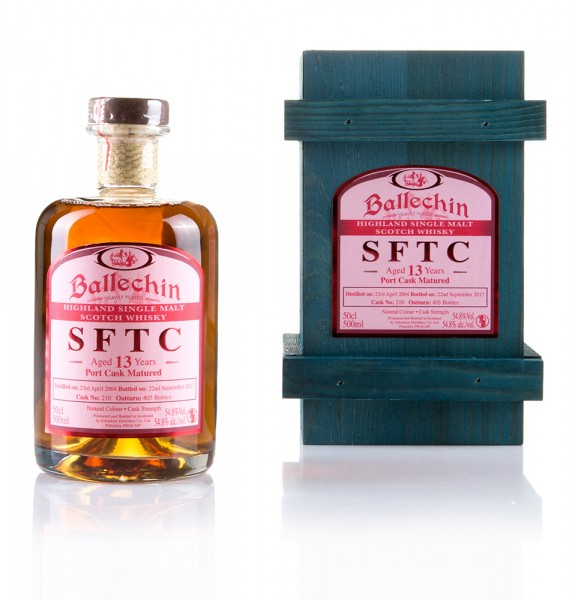 Ballechin 13 Jahre STRAIGHT FROM THE CASK (Port Cask)