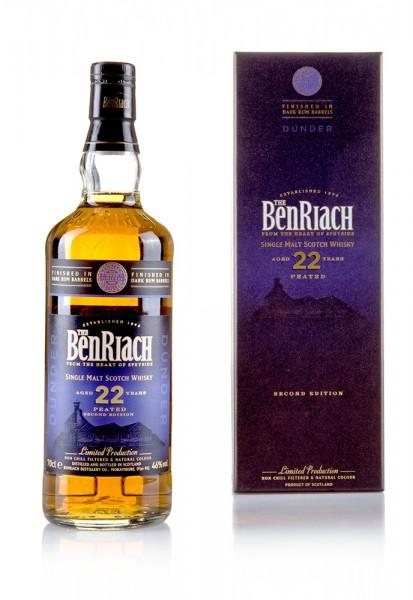 BenRiach Dunder Peated Dark Rum 22 Jahre Second Edition