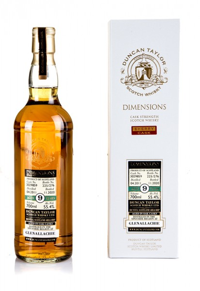 GlenAllachie 9 years 2011 Duncan Taylor Dimensions