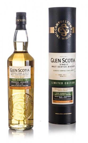 Glen Scotia 2012 - 1st Fill Bourbon Barrel 56,8% vol.