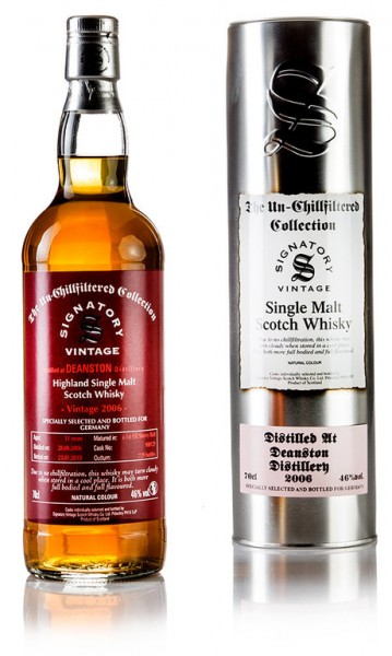 Deanston 2006/2018 1 st Fill Sherry Single Cask Signatory Vintage The Un-Chillfiltered Collection