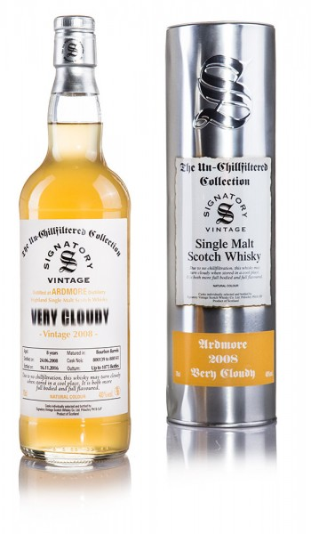 Ardmore Very Cloudy 2008 Signatory Vintage Un-Chillfiltered