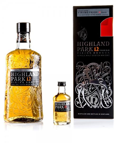 Highland Park 12 Jahre inkl. Miniatur 18 Jahre in Geschenkverpackung