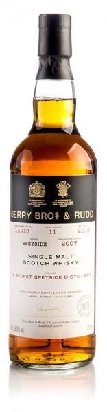 Secret Speyside Distillery 2007 Berry Bros & Rudd