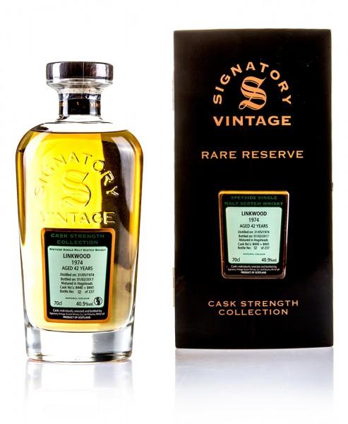 Linkwood 1974 Signatory Vintage Rare Reserve Cask Strength
